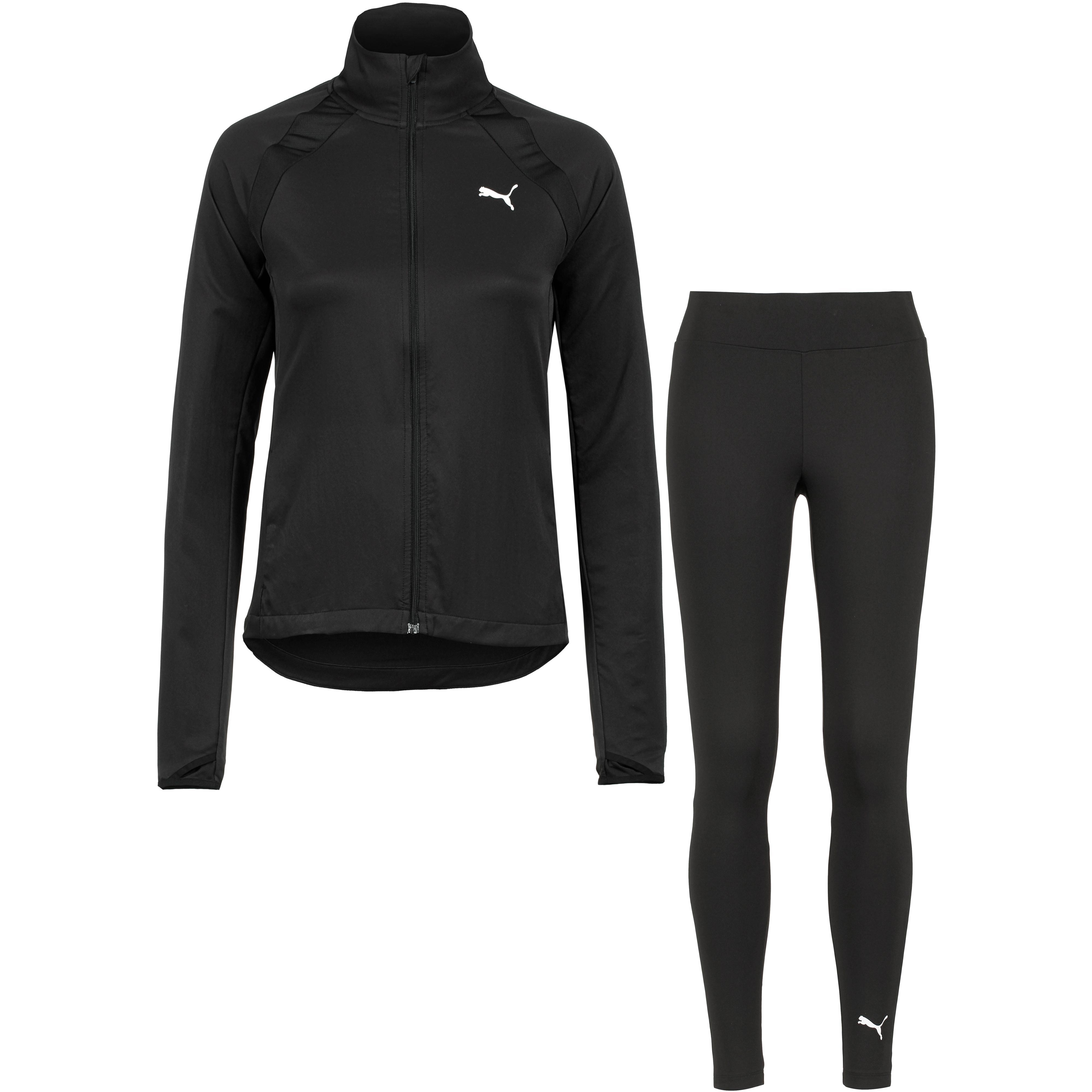 PUMA Yoga Inspired Trainingsanzug Damen puma black im Online Shop von SportScheck kaufen