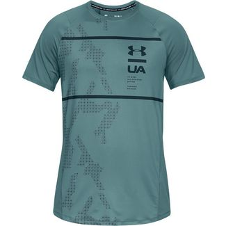 Under Armour MK1 PRINTED Funktionsshirt Herren blue-green