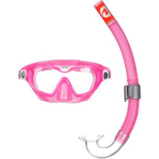 AQUA LUNG Combo Mix Schnorchelset pink-white