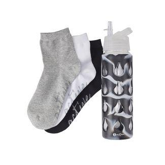 Active by Lascana Sneakersocken Damen schwarz-weiß-grau