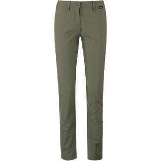 Jack Wolfskin DESERT ROLL-UP Wanderhose Damen woodland green