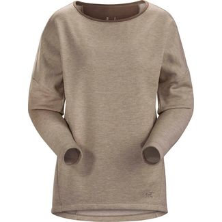 Arcteryx Nyara Sweatshirt Damen kirigami heather