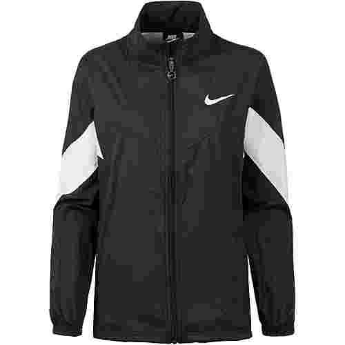 Nike NSW Nylonjacke Damen black-white-black