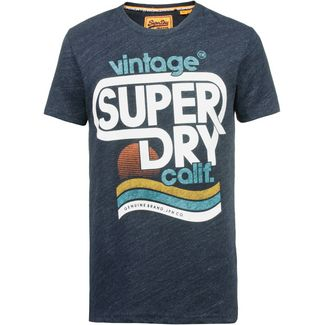 Superdry Malibu T-Shirt Herren bass blue heather