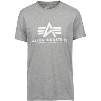 Alpha Industries T-Shirt Herren grey heather-white