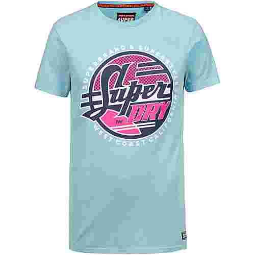 Superdry Acid Graphics T-Shirt Herren skate washed blue