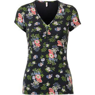 Blutsgeschwister Lucky Frontluke T-Shirt Damen vagabund flowers