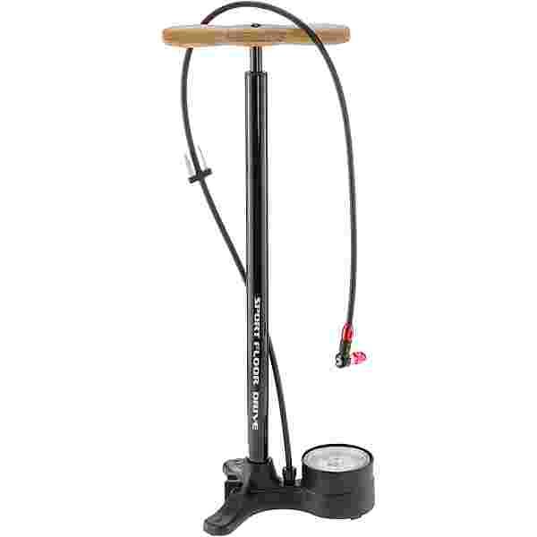 Lezyne Sport Floor Drive Fahrradpumpe schwarz
