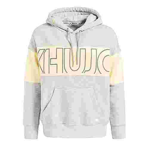 Khujo HEATHER Sweatshirt Damen hellgrau meliert gelb