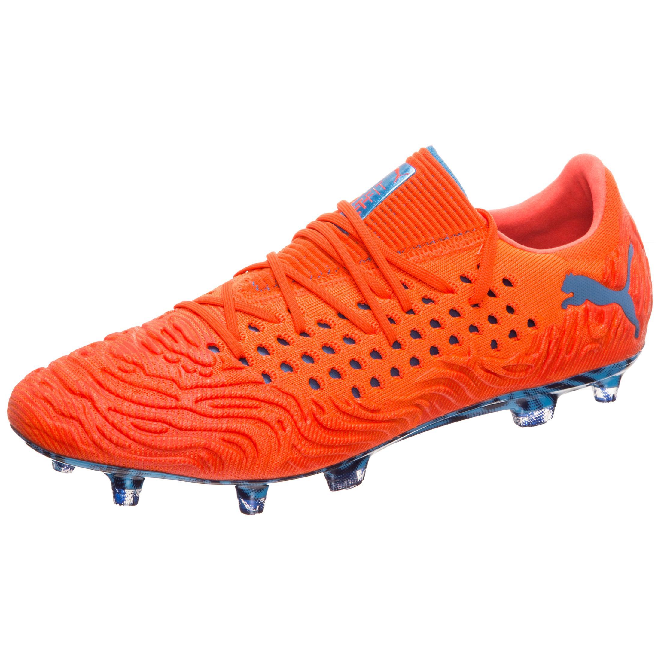 PUMA Future 19.1 NETFIT Low FG AG Fußballschuhe Herren Orange   blau im Online Shop von SportScheck kaufen Gute Qualität beliebte Schuhe
