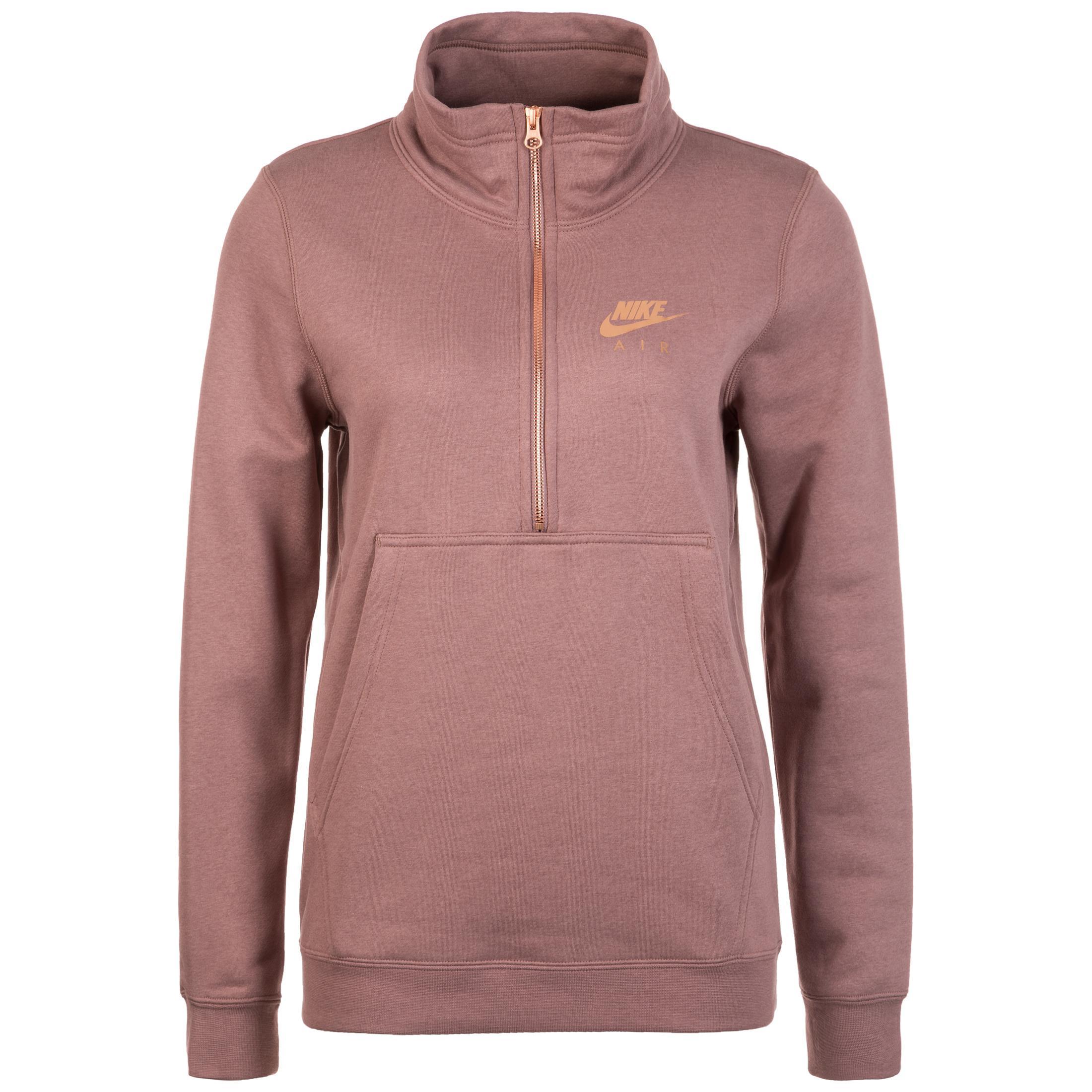 wholesale dealer ea2dc e3e18 Nike Air Top Half-Zip Fleece Sweatshirt Damen altrosa im Online Shop von  SportScheck kaufen