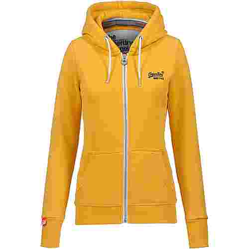 Superdry Orange Label Sweatjacke Damen mikado ochre