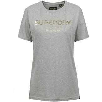Superdry T-Shirt Damen grey marl