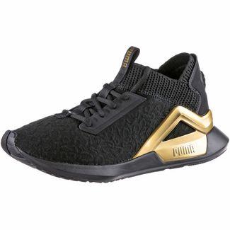 PUMA Rogue Sneaker Damen puma black-metallic gold