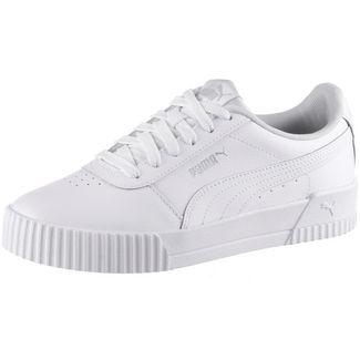 PUMA Carina L Sneaker Damen puma white-puma white-puma silver