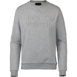 Jack Wolfskin LOGO Sweatshirt Herren light grey heather