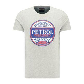 Petrol Industries Printshirt Herren Light Grey Melee