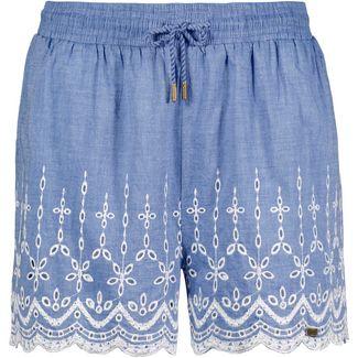Superdry Annabelle Shorts Damen white blue chambray