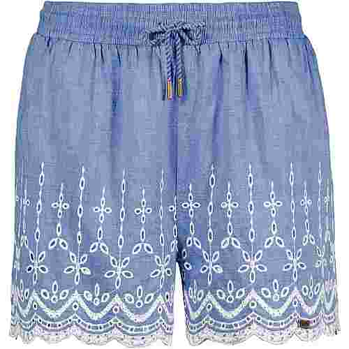 Superdry Annabelle Shorts Damen white blue chambray