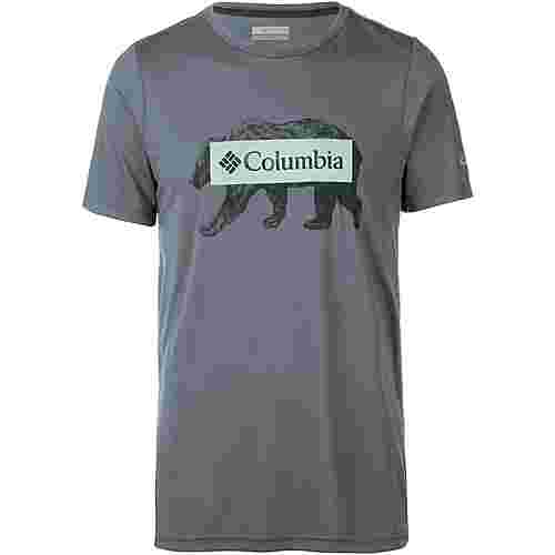 Columbia Box Logo Bear Funktionsshirt Herren grey ash