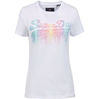 Superdry Vintage Logo T-Shirt Damen optic