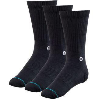 Stance ICON 3 PACK Sneakersocken Herren black