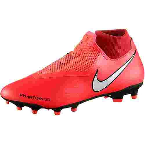 Nike PHANTOM VSN ACADEMY DF FG/MG Fußballschuhe brt crimson-mtlc silver-univ red-black