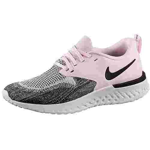 Nike Odyssey React 2 Flyknit Laufschuhe Damen pink foam-black-platinum tint
