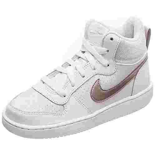 Nike Court Borough Mid Sneaker Kinder grau / rot