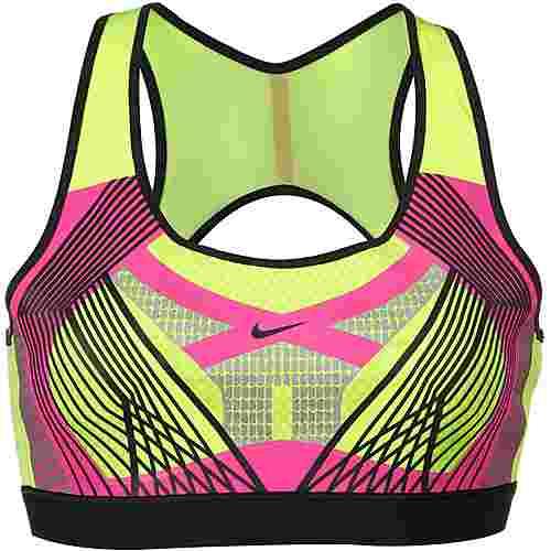 Nike Tech Pack Sport-BH Damen volt-black-laser fuchsia
