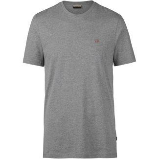 Napapijri T-Shirt Herren medium grey melange
