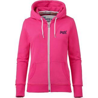 Superdry Orange Label Sweatjacke Damen ruby pink