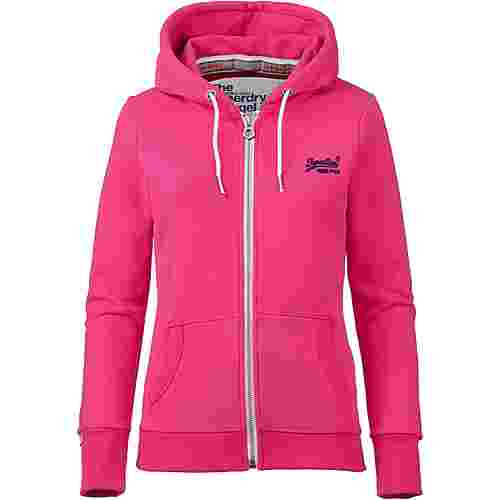 Superdry Orange Label Sweatjacke Damen ruby pink