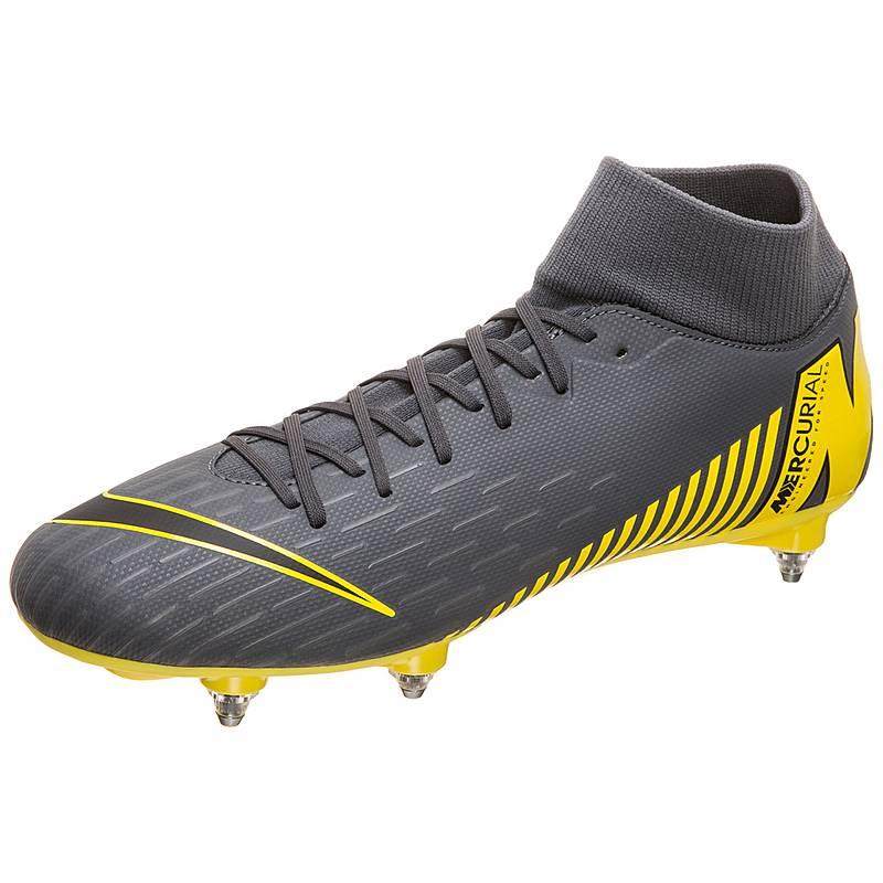 separation shoes 6f3aa 742fc Nike Mercurial Superfly VI Academy Fußballschuhe Herren dunkelgrau  gelb