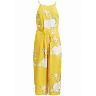 Khujo SOLENN Jumpsuit Damen gelb gemustert