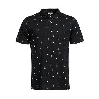 Khujo JIKEL Poloshirt Herren schwarz gemustert