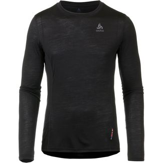 Odlo Natural + Light Merino Funktionsshirt Herren black