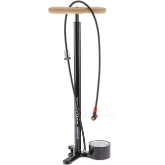 Lezyne Steel Floor Drive Fahrradpumpe schwarz