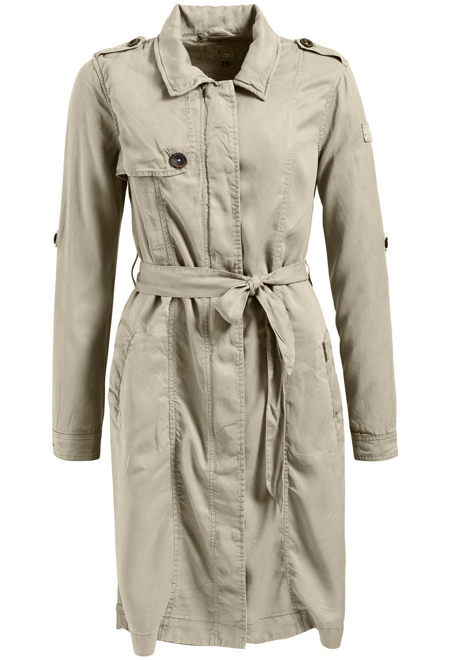 the best attitude 18d42 e22ee Khujo MITUVIA WITH BELT Trenchcoat Damen beige im Online Shop von  SportScheck kaufen