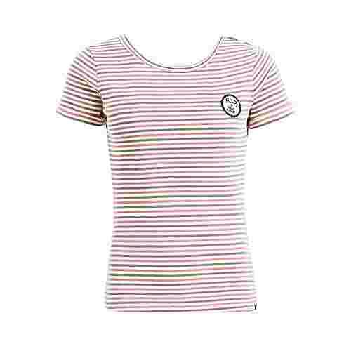 Khujo MADIGAN T-Shirt Damen rot-blau gestreift