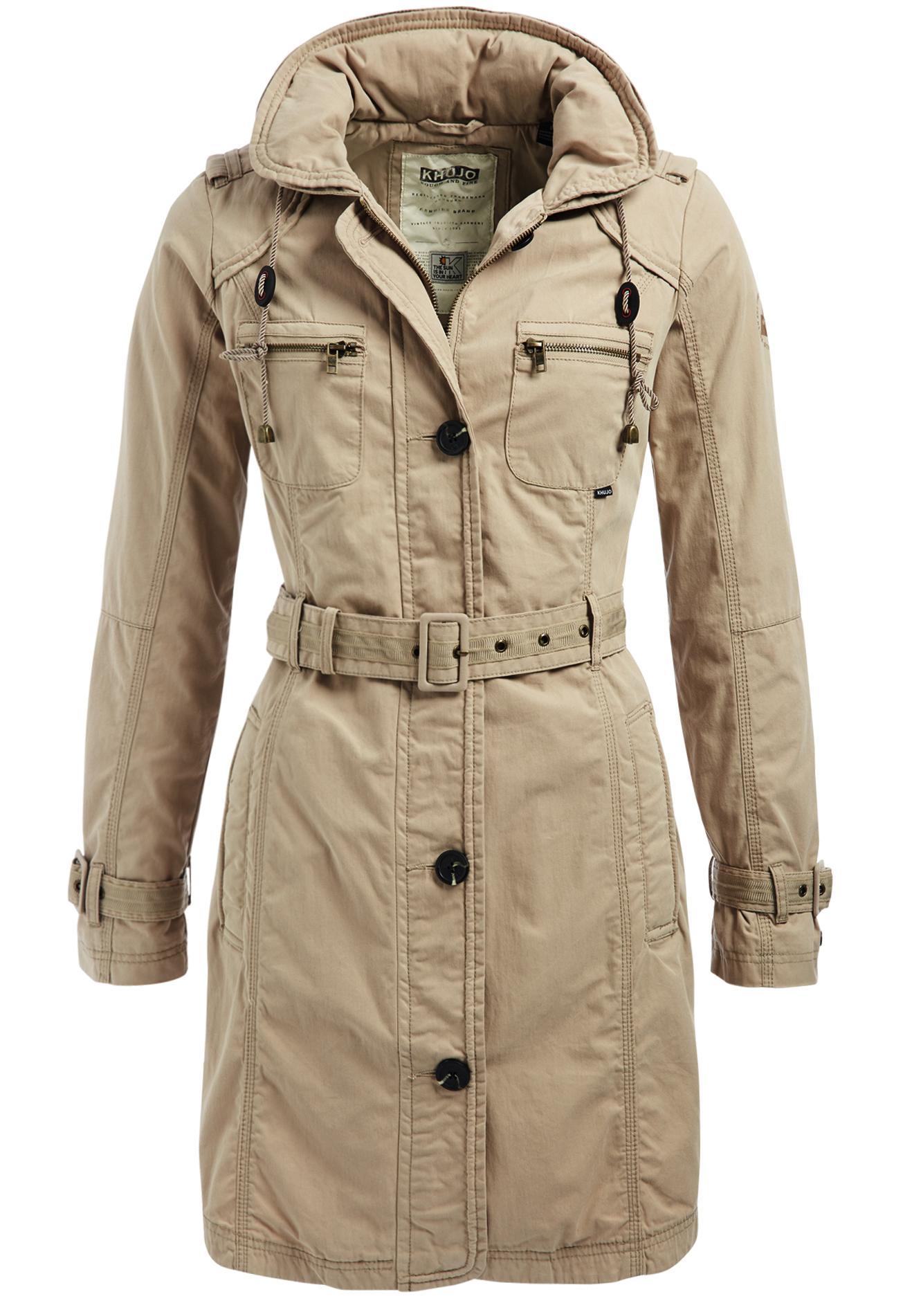 on sale 43822 92ba2 Khujo CHELSEA Trenchcoat Damen beige im Online Shop von SportScheck kaufen