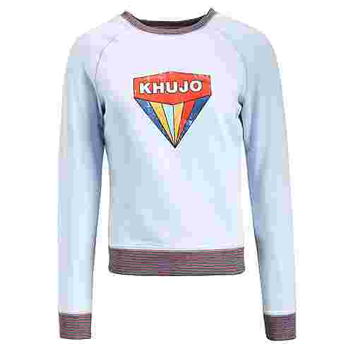 Khujo DARINKA WITH PRINT Sweatshirt Damen hellblau
