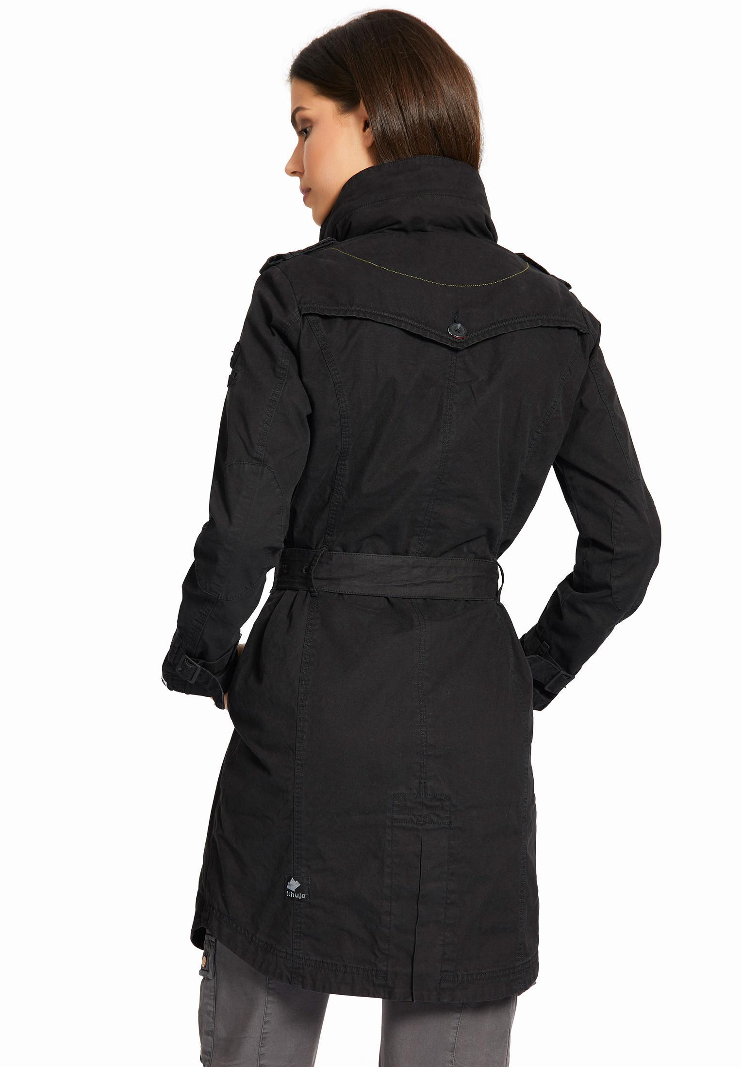 Khujo MENNA Trenchcoat Damen schwarz im Online Shop von SportScheck kaufen