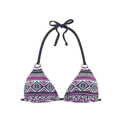 Lascana Bikini Oberteil Damen marine-pink