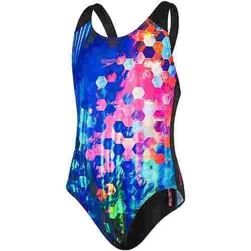 SPEEDO Placement Digital Splashback Badeanzug Kinder black-blue