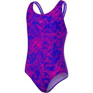 SPEEDO Boom Allover Splashback Badeanzug Kinder blue-pink