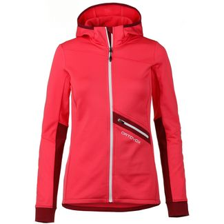 ORTOVOX FLEECE LIGHT TEC Fleecejacke Damen hot coral