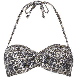Lascana Bikini Oberteil Damen schwarz-weiß gold