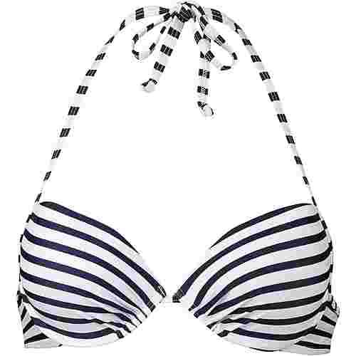 VENICE BEACH Bikini Oberteil Damen marine-weiß