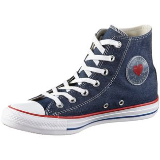 CONVERSE CTAS HI Sneaker Damen indigo-enamel-red
